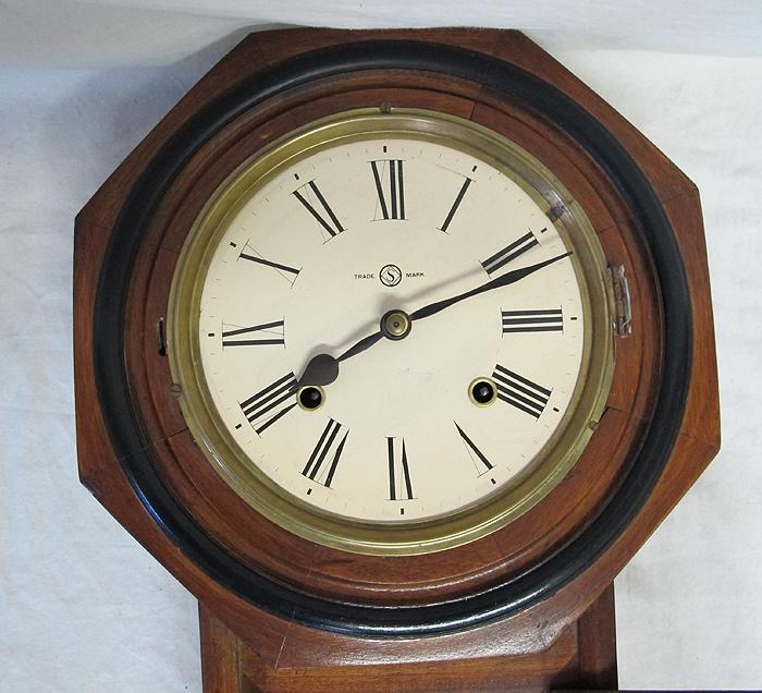 Antique Regulator Wall Clock With Trade S Mark Antique C